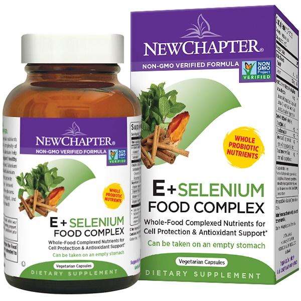 New Chapter, E + Selenium Food Complex, 60 Veggie Caps (Discontinued Item)