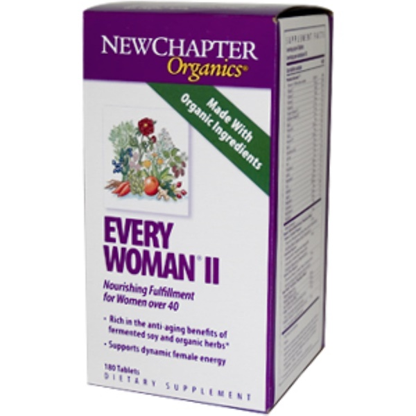 New Chapter, Organics, Every Woman II, 180 Tablets (Discontinued Item)