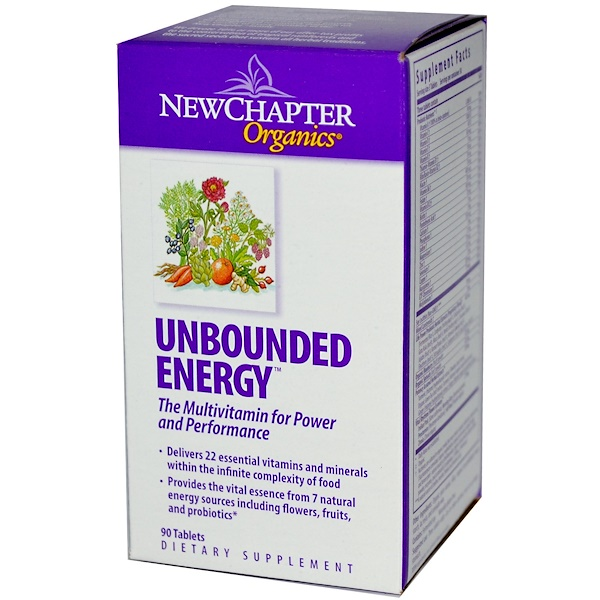 New Chapter, Organics, Unbounded Energy, 90 Tablets (Discontinued Item)