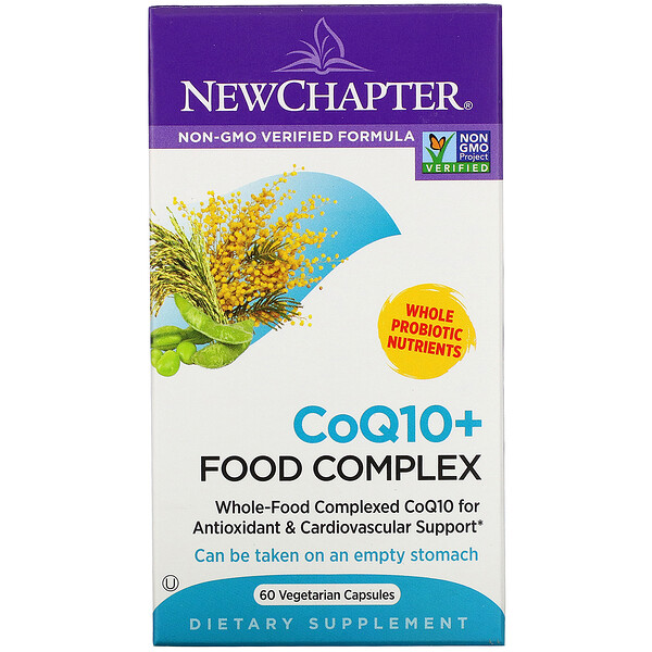 New Chapter, CoQ10+ Food Complex, 60 Vegetarian Capsules (Discontinued Item)
