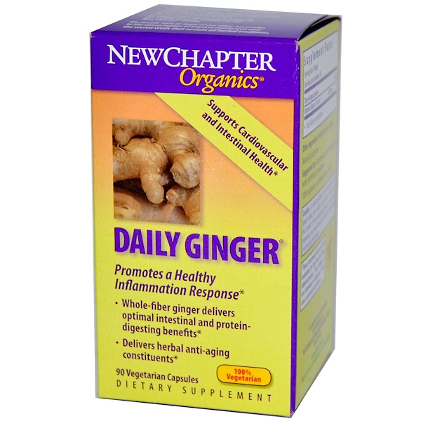 New Chapter, Organics, Daily Ginger, 90 Veggie Caps  (Discontinued Item)