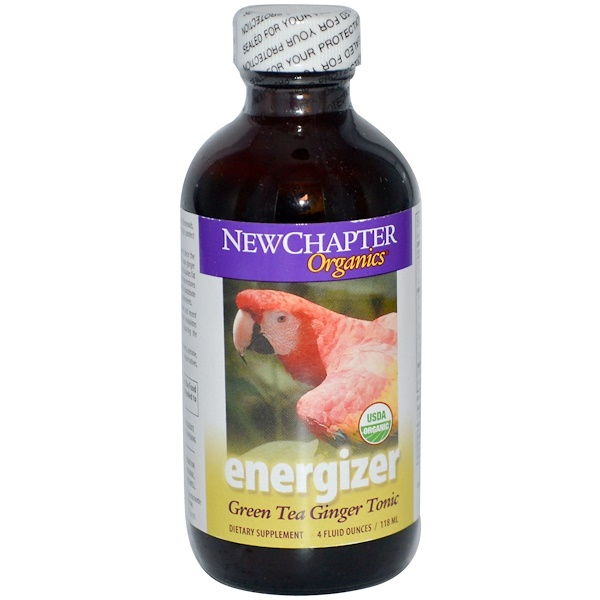 New Chapter, Organics, Energizer, Green Tea Ginger Tonic, 4 fl oz (118 ml) (Discontinued Item)