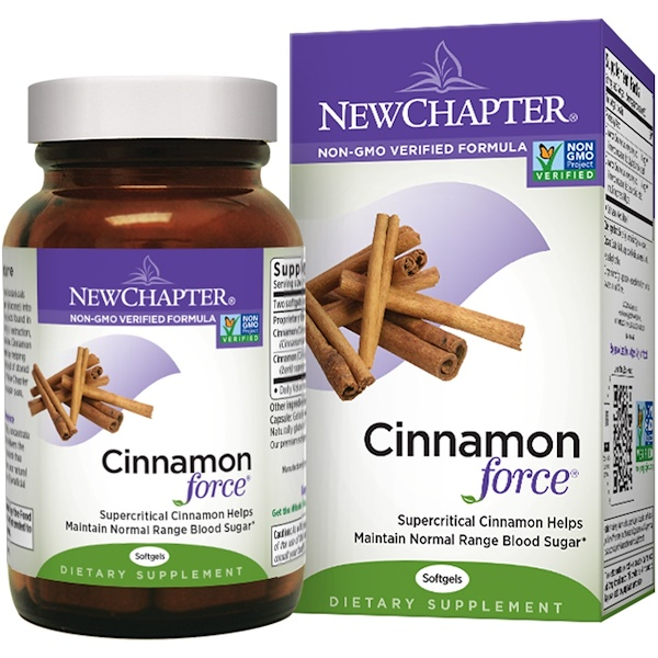 New Chapter, Cinnamon Force, 60 Softgels (Discontinued Item)
