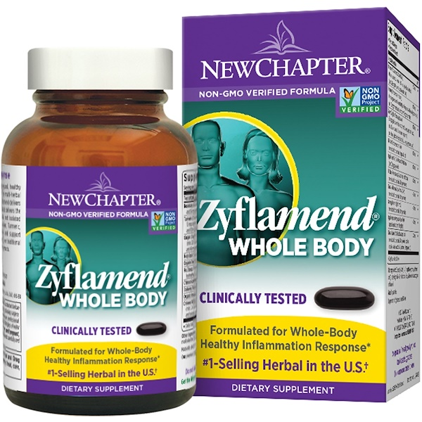 New Chapter, Zyflamend Whole Body, 144 гелевых капсул (Discontinued Item)