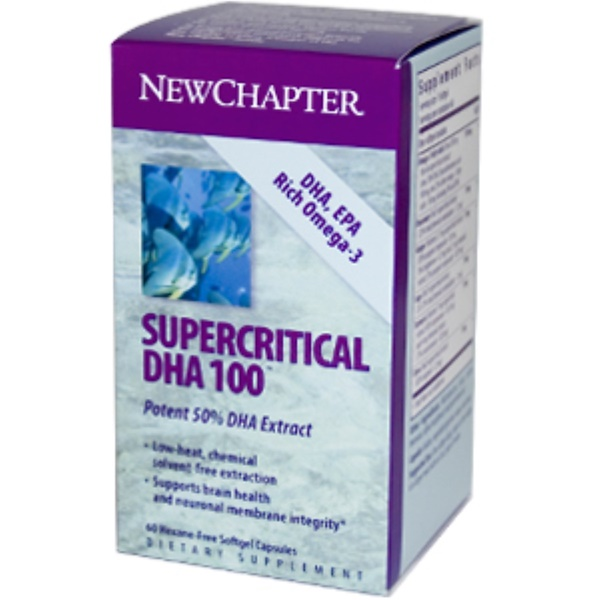 New Chapter, Supercritical DHA 100, 60 Softgel Capsules (Discontinued Item)