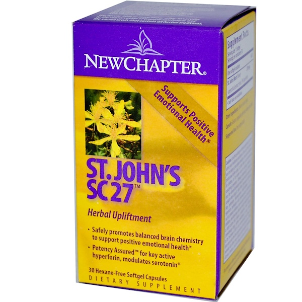 New Chapter, St. John's SC27, 30 Hexane-Free Softgel Capsules (Discontinued Item)