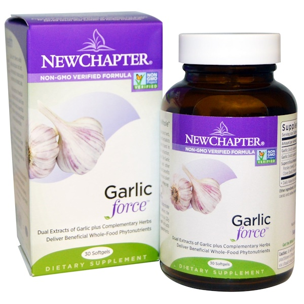 New Chapter, Garlic Force, 30 Softgels (Discontinued Item)