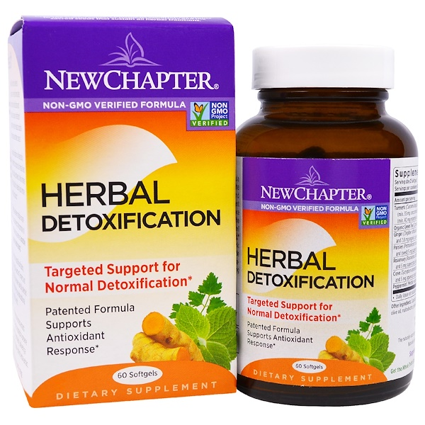 New Chapter, Herbal Detoxification, 60 Softgels (Discontinued Item)
