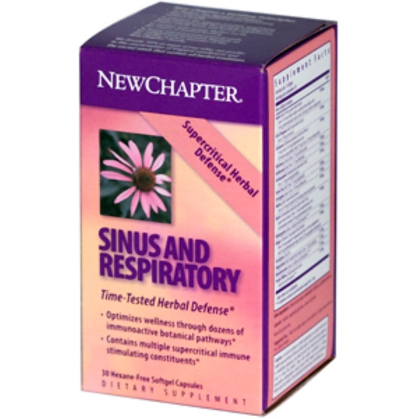 New Chapter, Sinus and Respiratory, 30 Softgel Capsules (Discontinued Item)