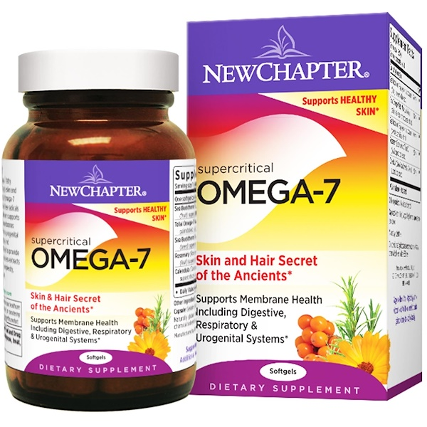 New Chapter, Supercritical Omega-7, 60 Softgels (Discontinued Item)