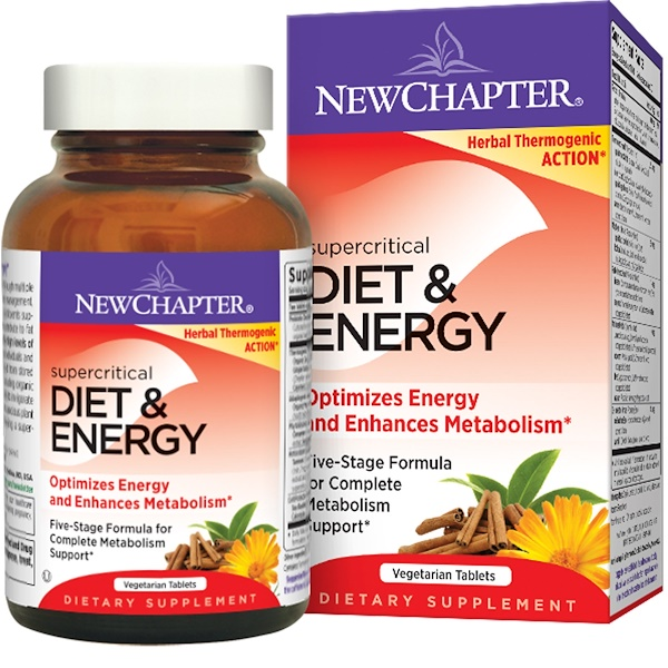 New Chapter, Supercritical, Diet & Energy, 60 Veggie Tabs (Discontinued Item)
