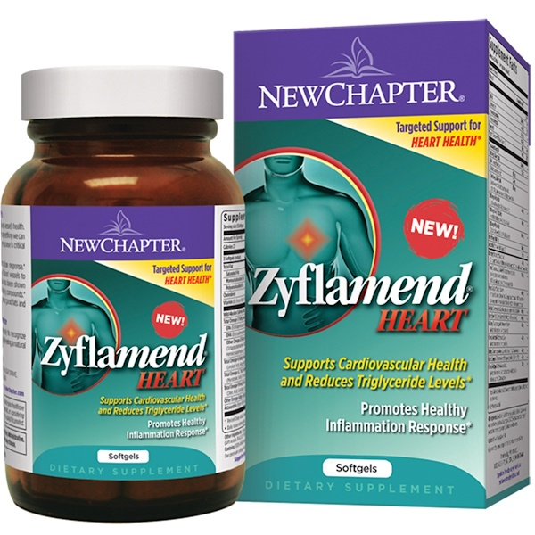 New Chapter, Zyflamend Heart, 60 Softgels (Discontinued Item)