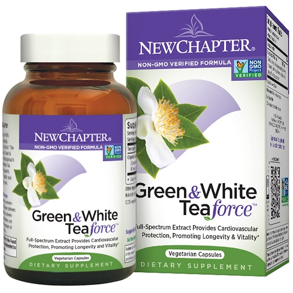 New Chapter, Green & White Tea Force, 60 Veggie Caps (Discontinued Item)
