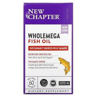 New Chapter, Wholemega Fish Oil, 60 Softgels