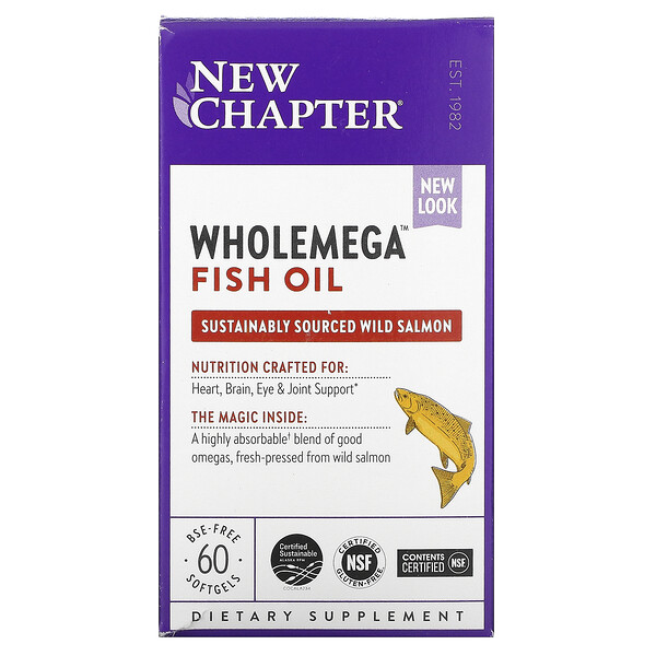 Wholemega Fish Oil, 60 Softgels