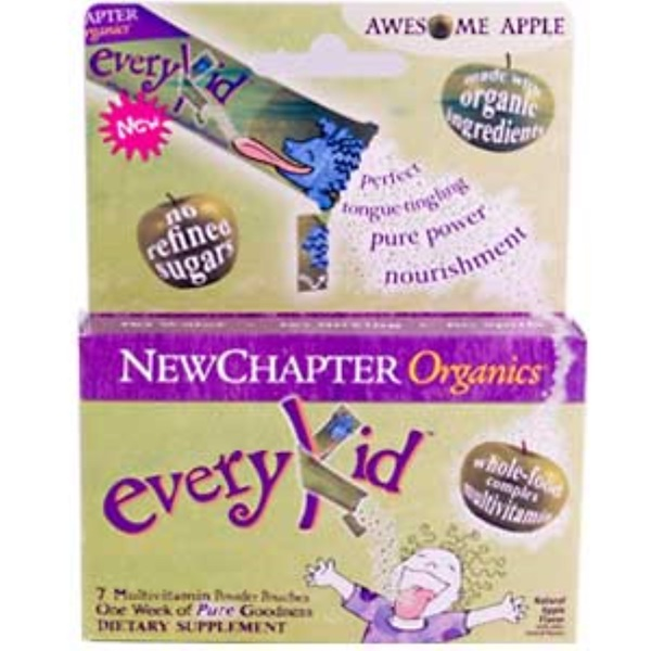 New Chapter, Organics, EveryKid, Awesome Apple Flavor, 7 Pouches (3.5 g Each) (Discontinued Item)