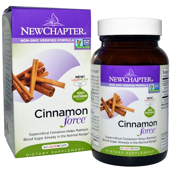 New Chapter, Cinnamon Force, 60 Vegetarian Capsules
