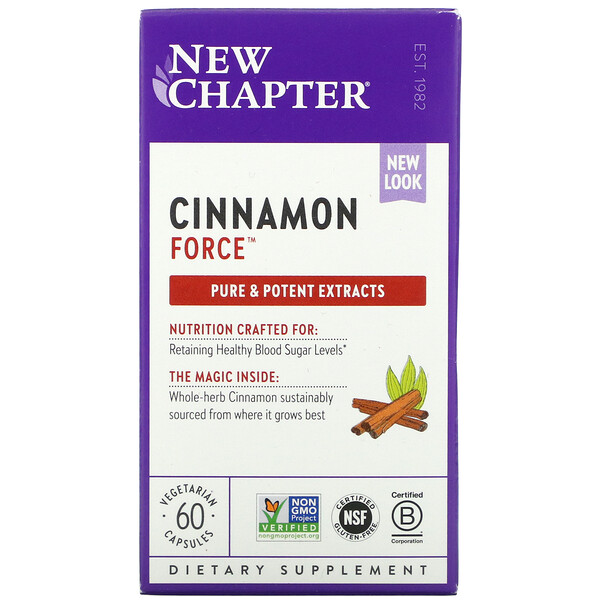 Cinnamon Force, 60 Vegetarian Capsules
