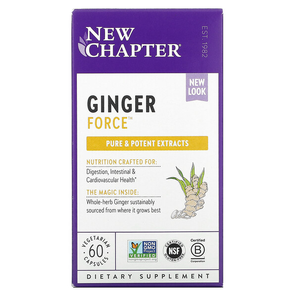 Ginger Force, 60 Vegetarian Capsules
