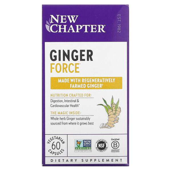 Ginger Force, 60 Vegetarian Capsules