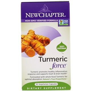 New Chapter, Turmeric Force, 30 Vegetarian Capsules