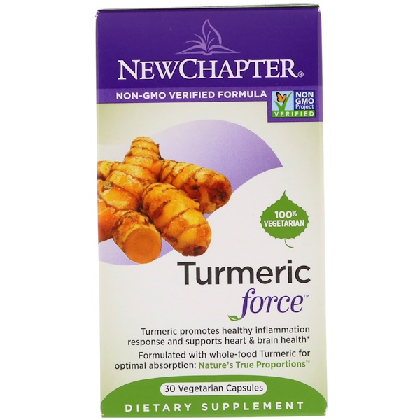 New Chapter, Turmeric Force, 30 Vegetarian Capsules (Discontinued Item)