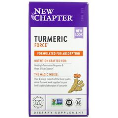 New Chapter, Turmeric Force 薑黃力量,120 粒素食膠囊