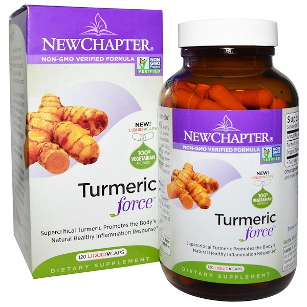New Chapter, Turmeric Force, 120 Vegetarian Capsules