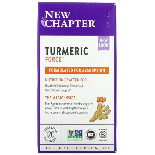 Turmeric Force, 120 Vegetarian Capsules