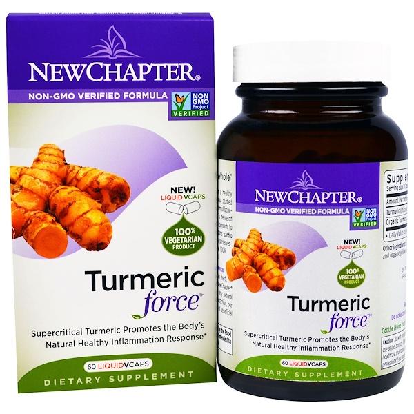 New Chapter, Turmeric Force, 60 Liquid Veggie Caps (Discontinued Item)