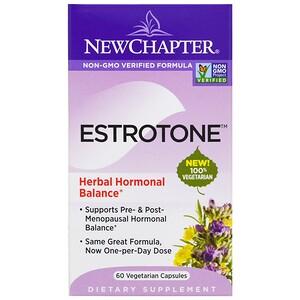 New Chapter, Эстротон, 60 вегетарианских капсул инструкция, применение, состав, противопоказания