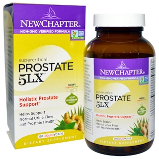 New Chapter, Prostate 5LX, Holistic Prostate Support, 120 Liquid Vcaps