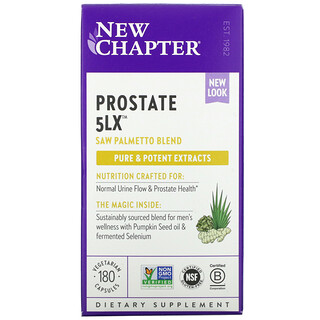 New Chapter, Prostate5LX, 180capsules végétariennes