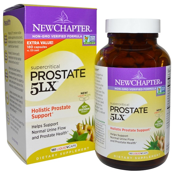 New Chapter, Prostate 5LX, Holistic Prostate Support, 180 Liquid Vcaps