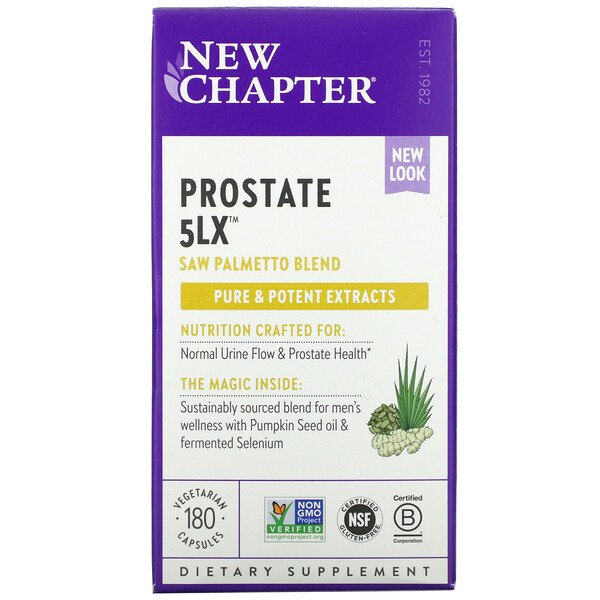 New Chapter, Prostate 5LX, 180 вегетарианских капсул