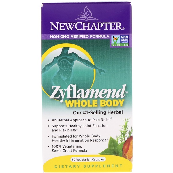 New Chapter, Zyflamend, Whole Body, 30 Vegetarian Capsules (Discontinued Item)