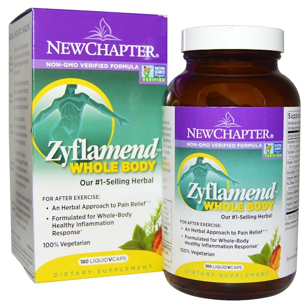 New Chapter, Zyflamend Whole Body, 180 Vegetarian Capsules
