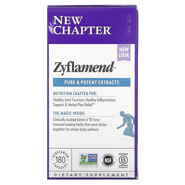 New Chapter, Zyflamend, 180 Vegetarian Capsules