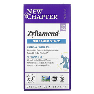 New Chapter, Zyflamend, 60 Vegetarian Capsules