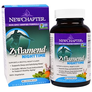 New Chapter, Zyflamend Nighttime, 60 Liquid VCaps