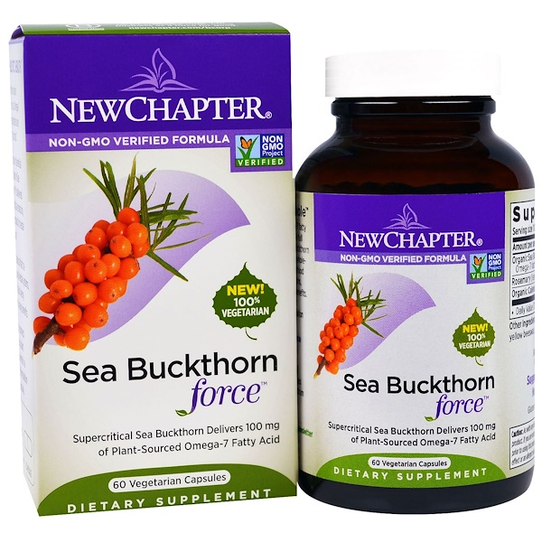 New Chapter, Sea Buckthorn Force, 60 Veggie Caps (Discontinued Item)