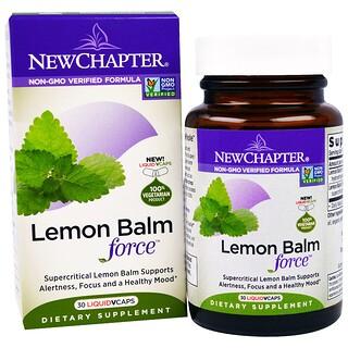 New Chapter, Lemon Balm Force, 30 Liquid VCaps