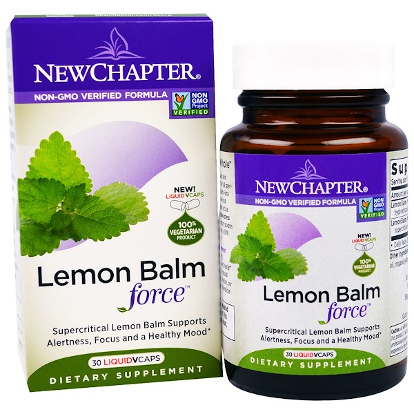 New Chapter, Lemon Balm Force, 30 Liquid VCaps (Discontinued Item)