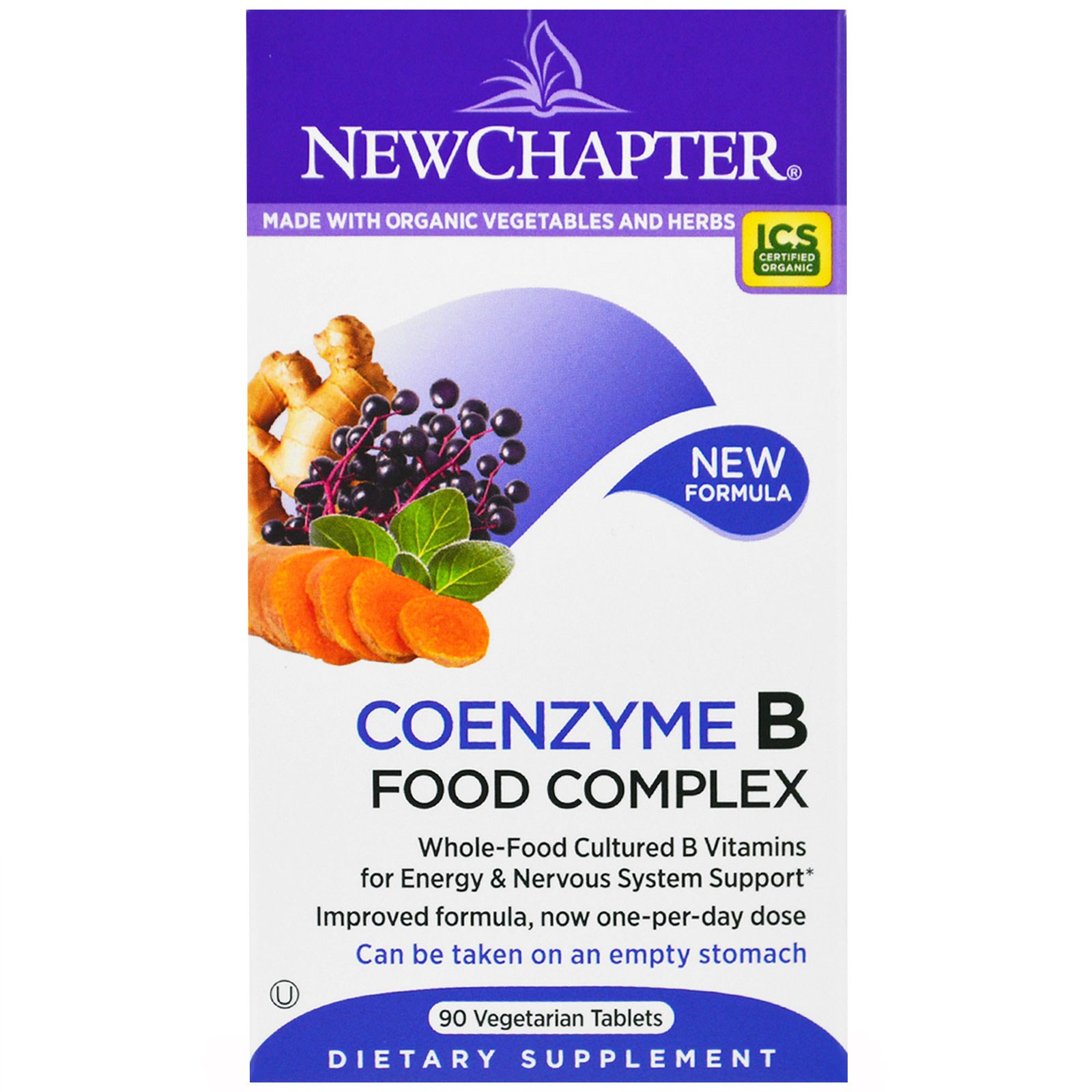 New Chapter, Coenzyme B Food Complex, 90 Vegetarian Tablets