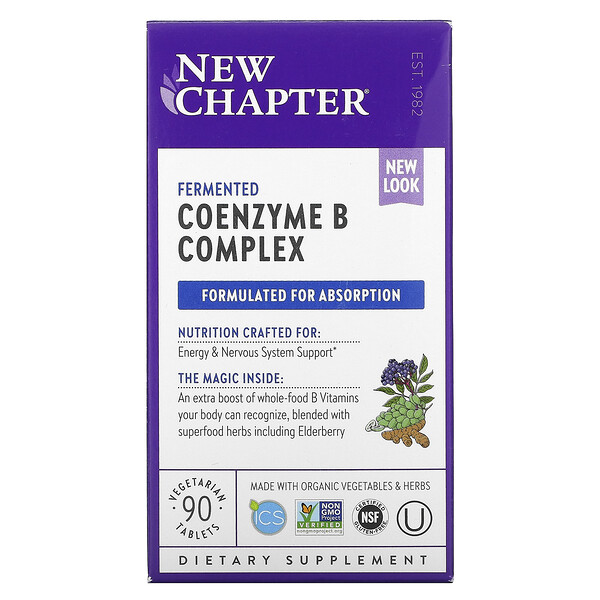 Fermented Coenzyme B Complex, 90 Vegetarian Tablets