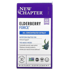 New Chapter, Elderberry Force素食膠囊,30粒