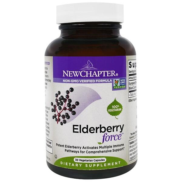 New Chapter, Elderberry Force, 30 Veggie Caps (Discontinued Item)