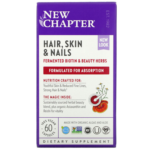 New Chapter, Perfect Hair, Skin & Nails, 60 Vegan Capsules