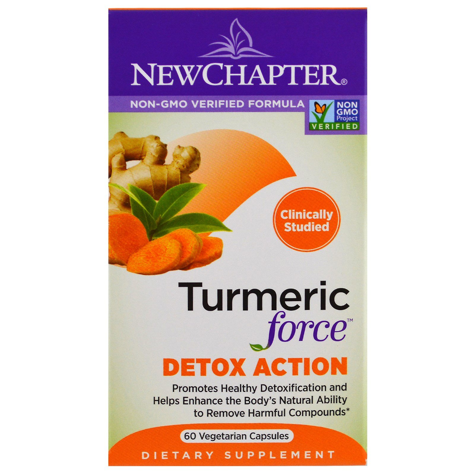 New Chapter, Turmeric Force Detox Action, 60 Veggie Caps
