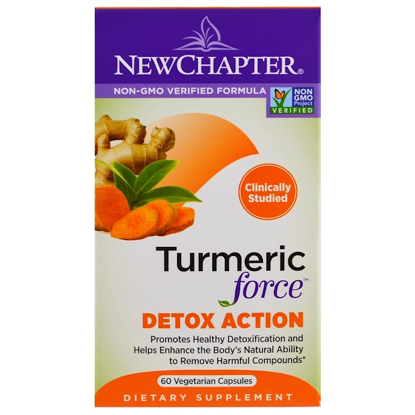 New Chapter, Turmeric Force Detox Action, 60 Veggie Caps (Discontinued Item)